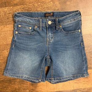 Seven 7 Blue Jean Bermuda Shorts